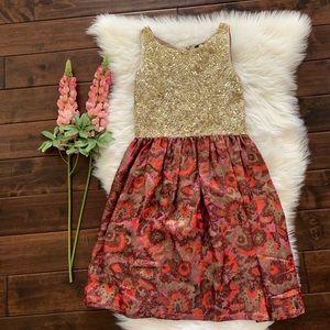 ANTHRO▪️Wren Striated Jacquard Formal Dress. Sz XS